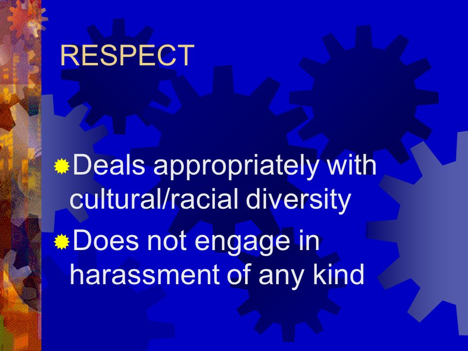 COOPERATION Displays leadership skills Appropriately handles criticism, conflicts, & complaints Demonstrates problem-solving capability Maintains appr