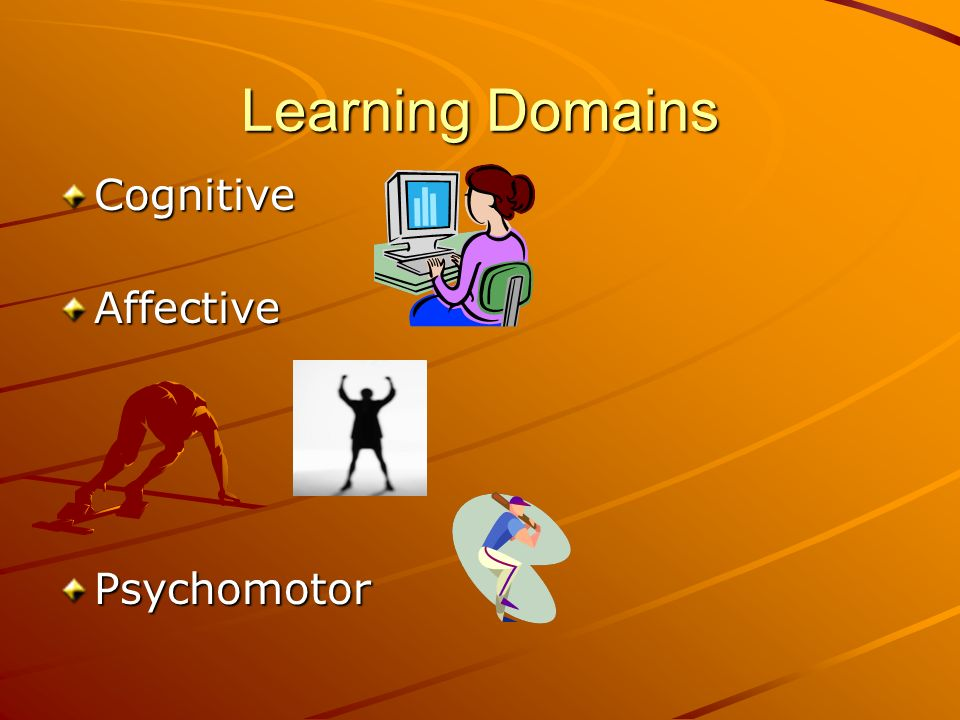 Learning Domains CognitiveAffective Psychomotor
