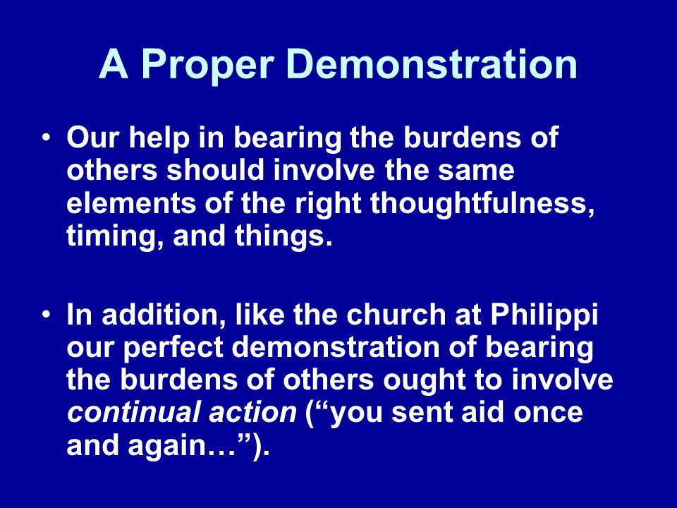A Personal Deposit The beauty of sharing in the distresses of others is the fact that God blesses us in return for our efforts.