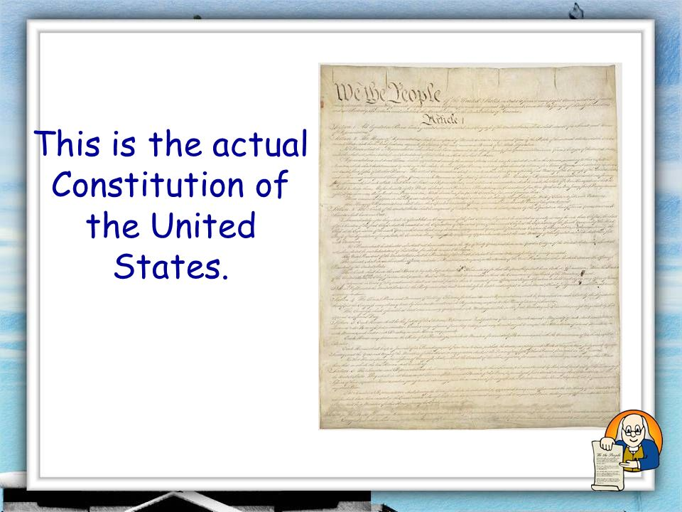 This is the Preamble (or introduction) of the Constitution.