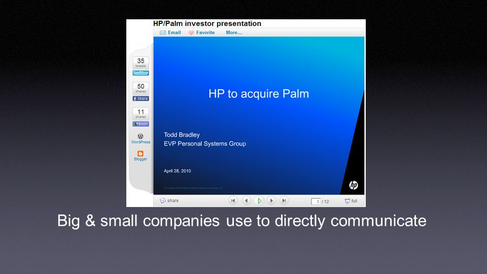Big & small companies use to directly communicate