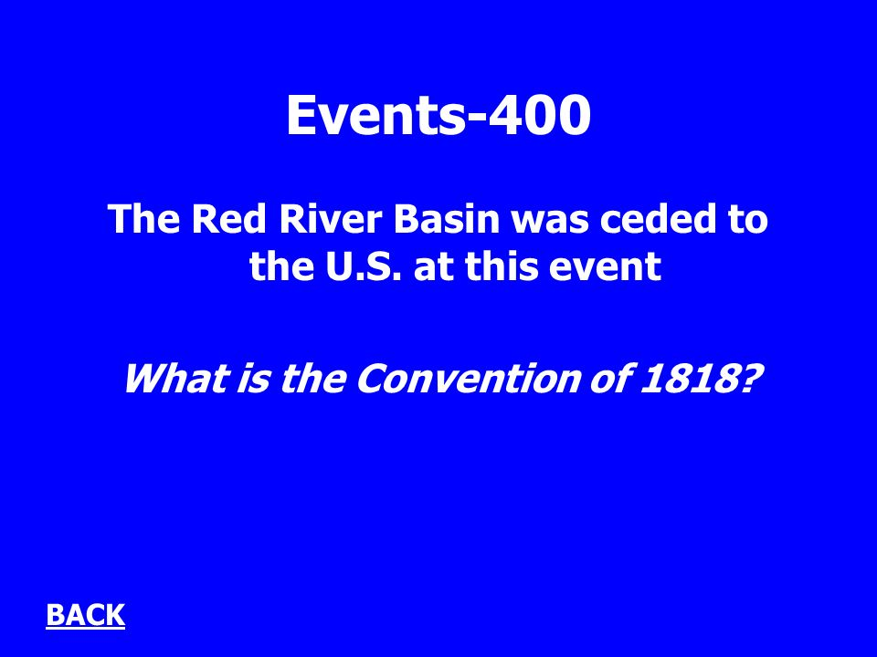 Events-400 The Red River Basin was ceded to the U.S.