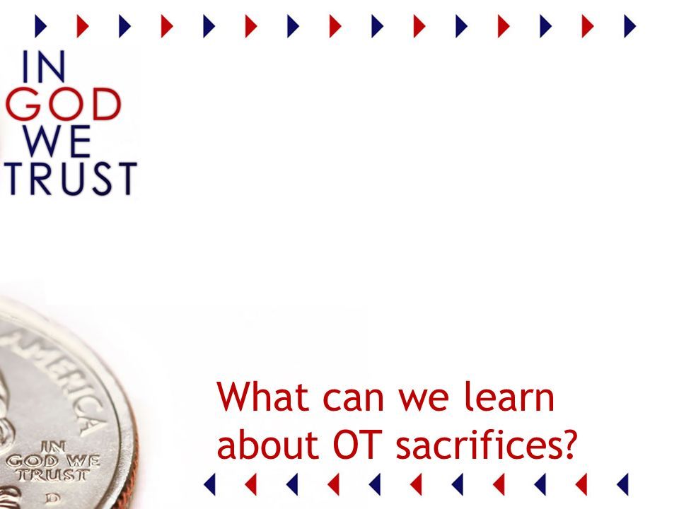 What can we learn about OT sacrifices
