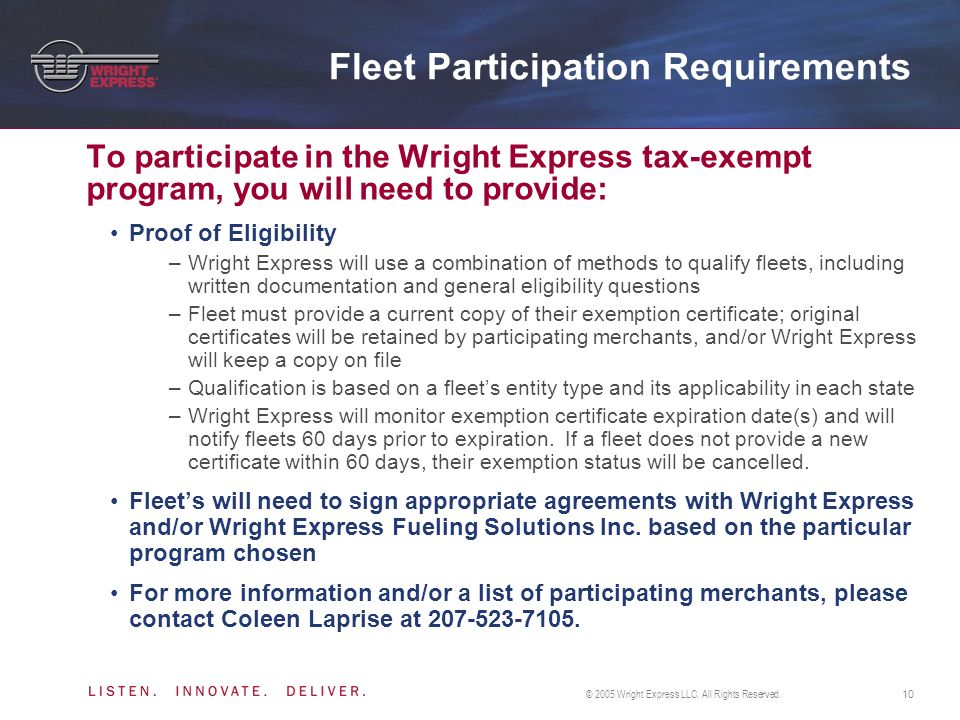 © 2005 Wright Express LLC.