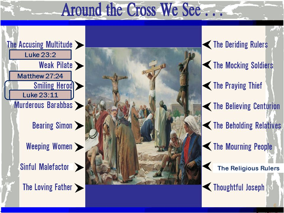 THE BEHOLDING RELATIVES Matthew 27:55-56 And many women who followed Jesus from Galilee, ministering to Him, were there beholding from afar off, among whom were Mary Magdalene, Mary the mother of James and Joses, and the mother of Zebedee s sons Around the Cross We See 27