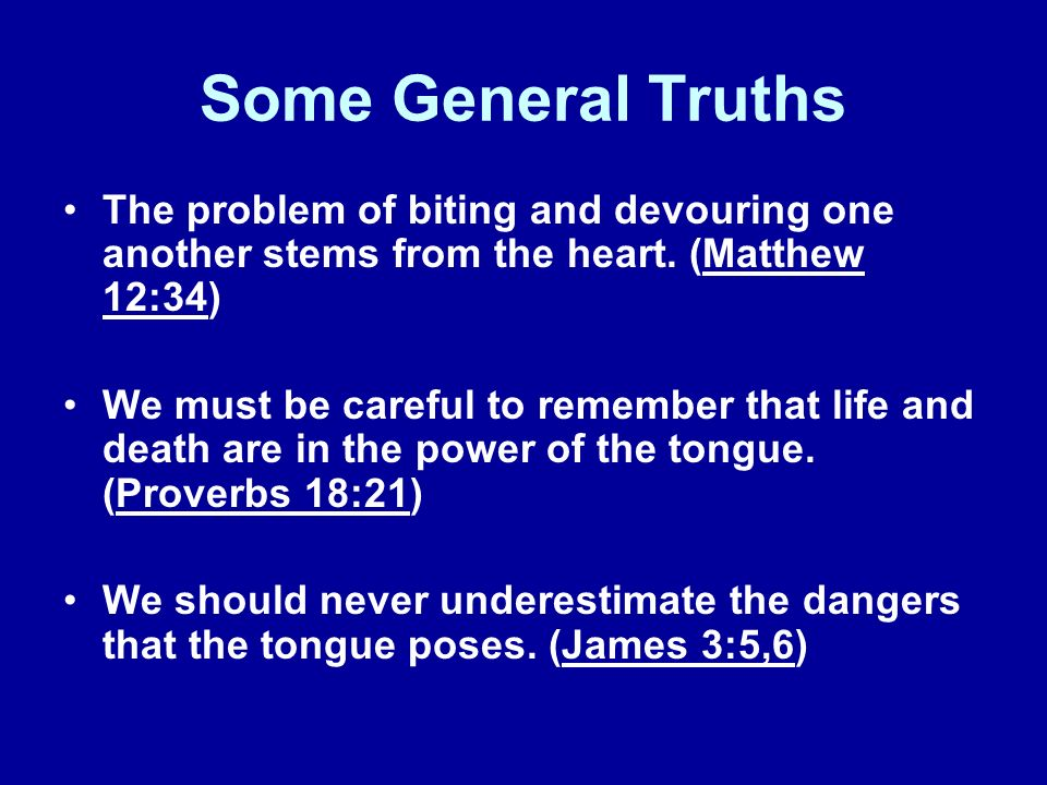 The Causes of Biting and Devouring Callousness- I dont care about your needs.