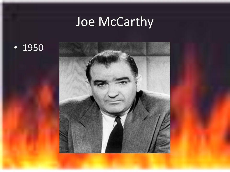 Joe McCarthy 1950