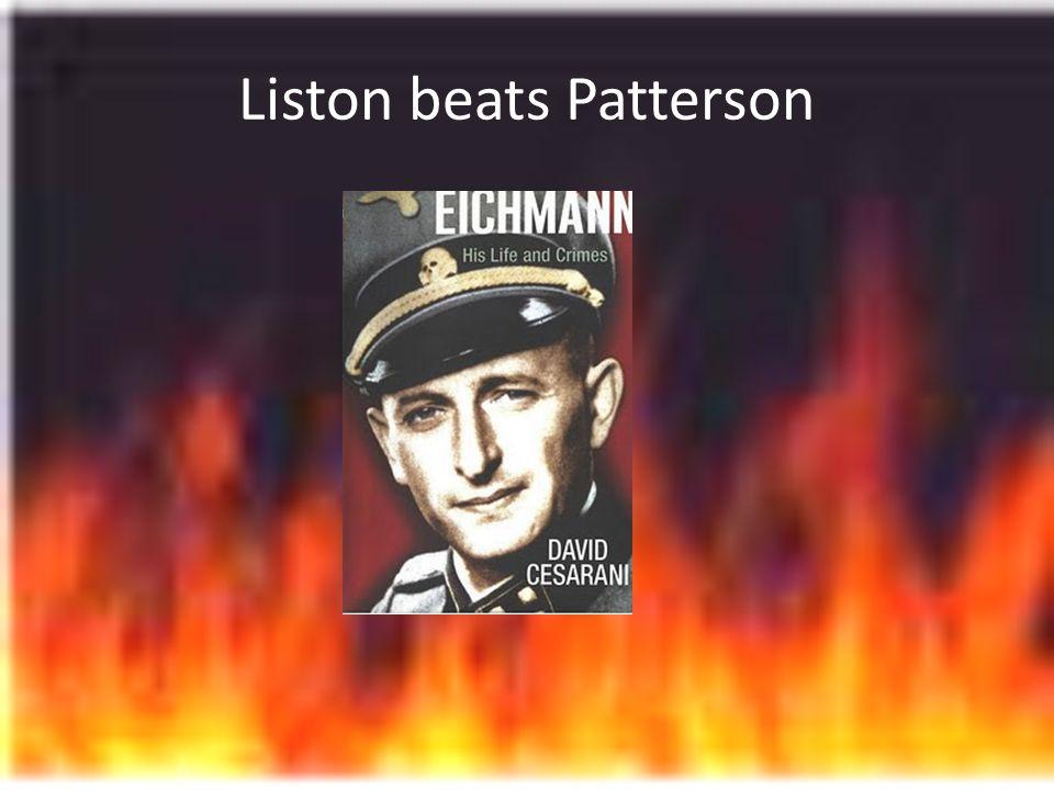 Liston beats Patterson
