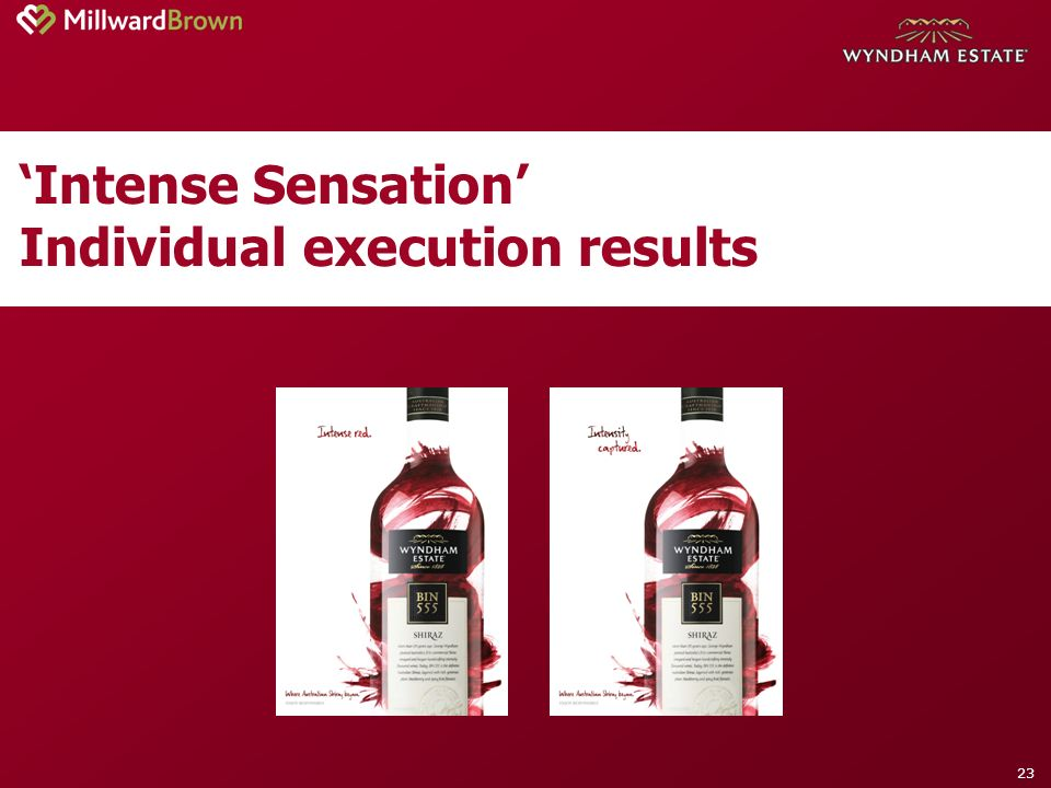 23 Intense Sensation Individual execution results