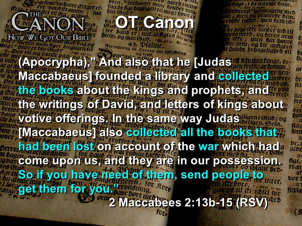 OT Canon (Apocrypha),