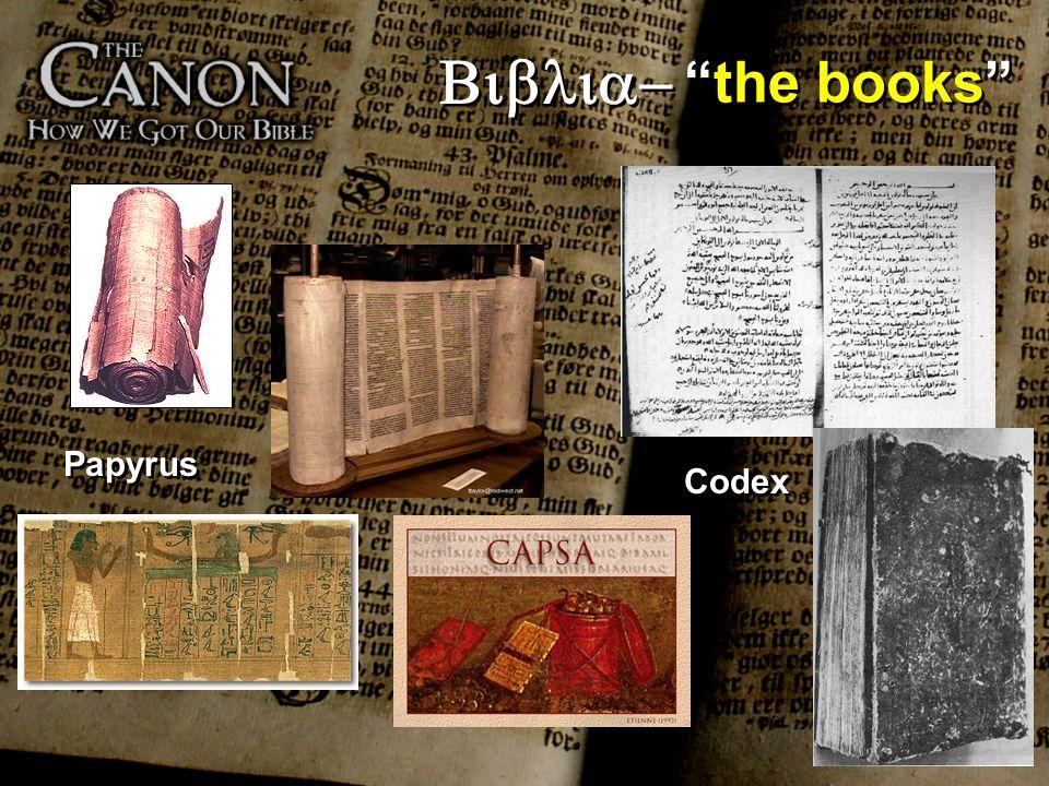 the books Codex Papyrus