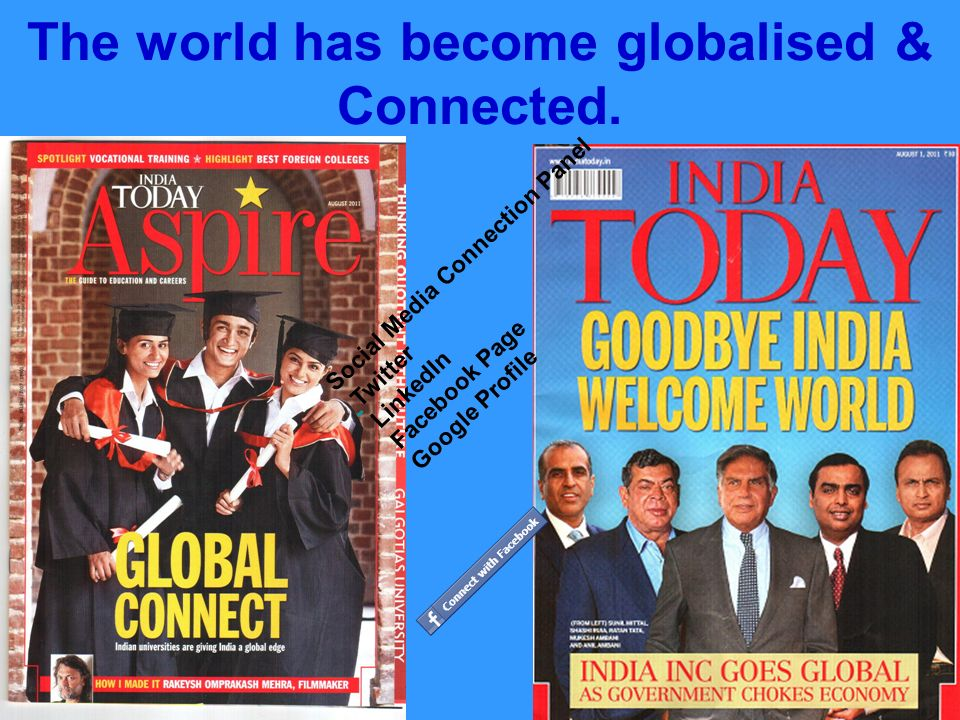 The world has become globalised & Connected.