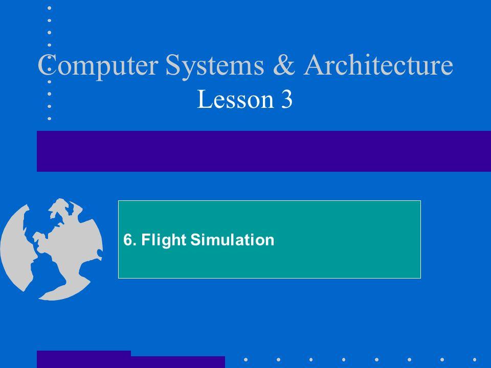 Computer Systems & Architecture Lesson 3 6. Flight Simulation