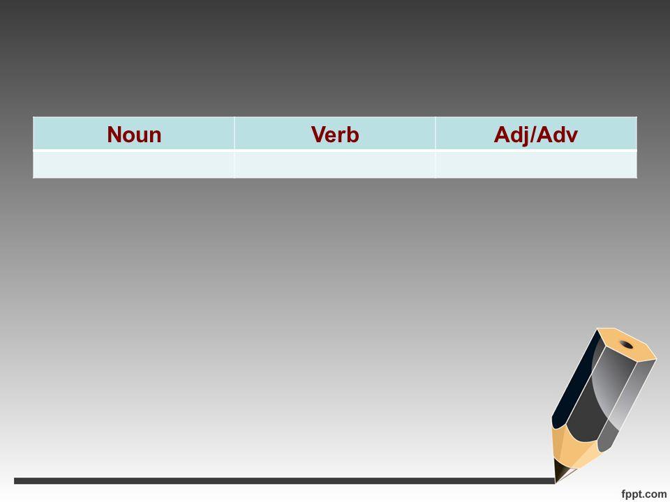 NounVerbAdj/Adv