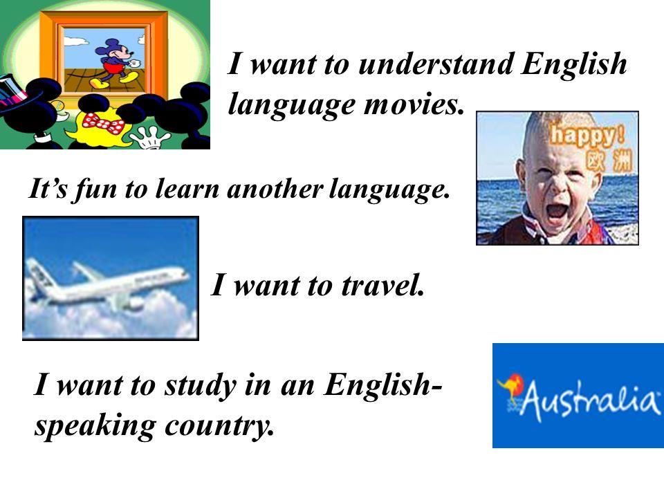 Why do you study English?