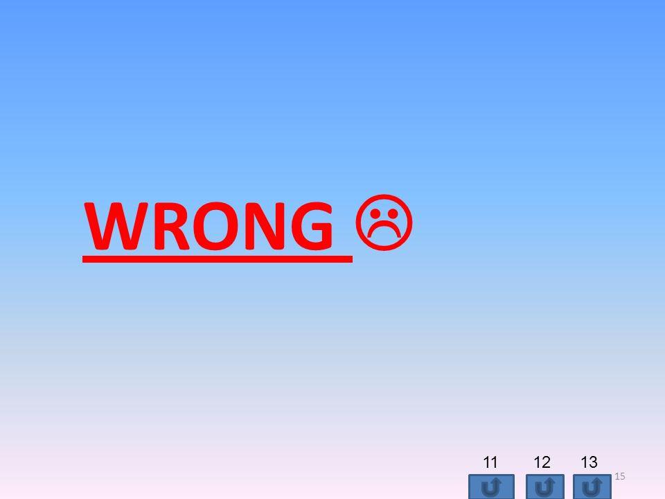 WRONG 15 111213