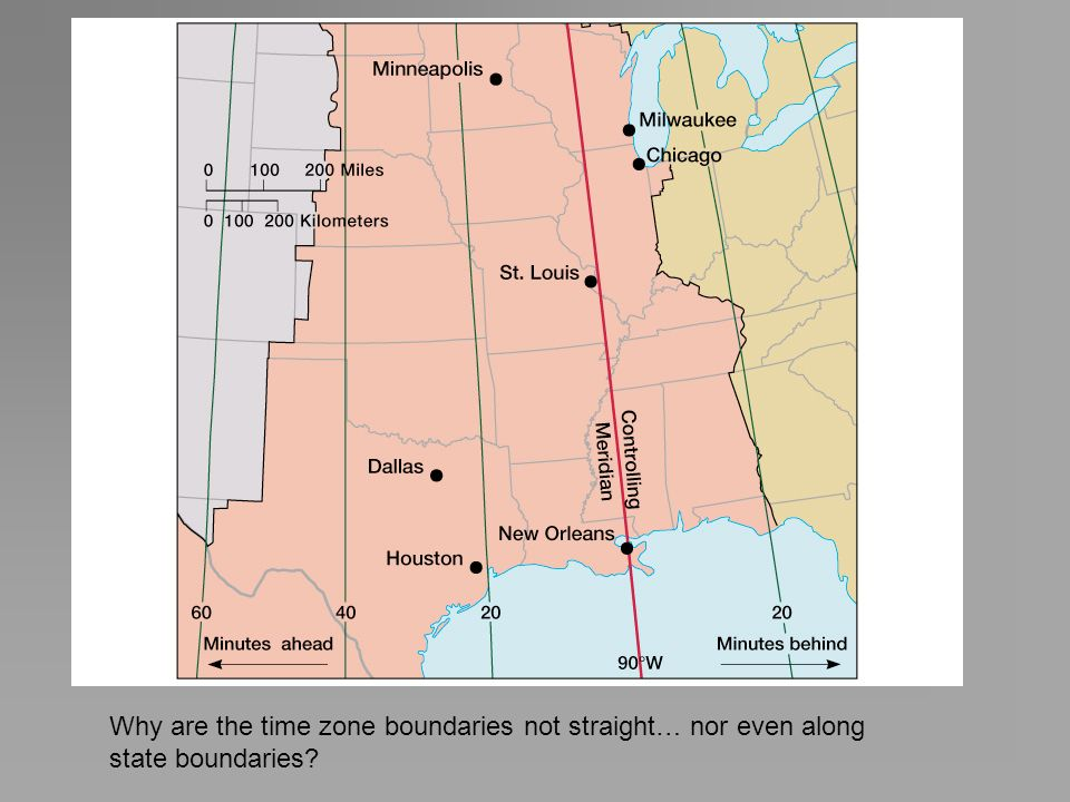 Why are the time zone boundaries not straight… nor even along state boundaries?