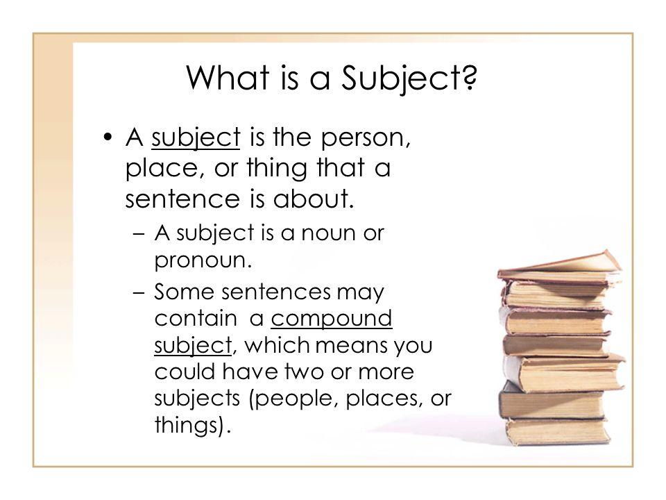 Simple Subject vs.