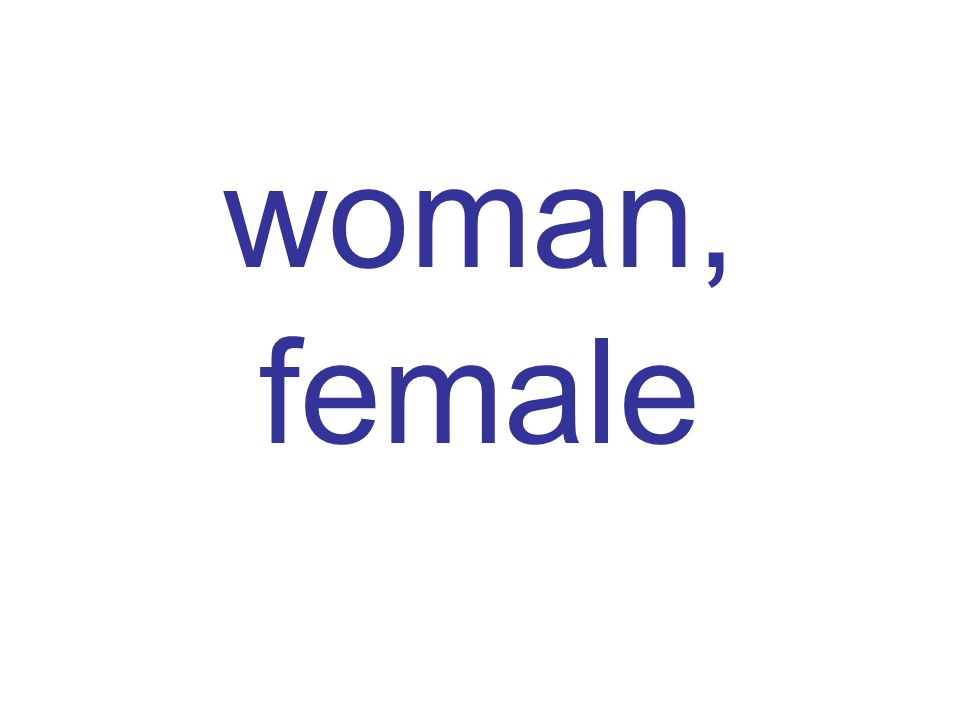 woman, female