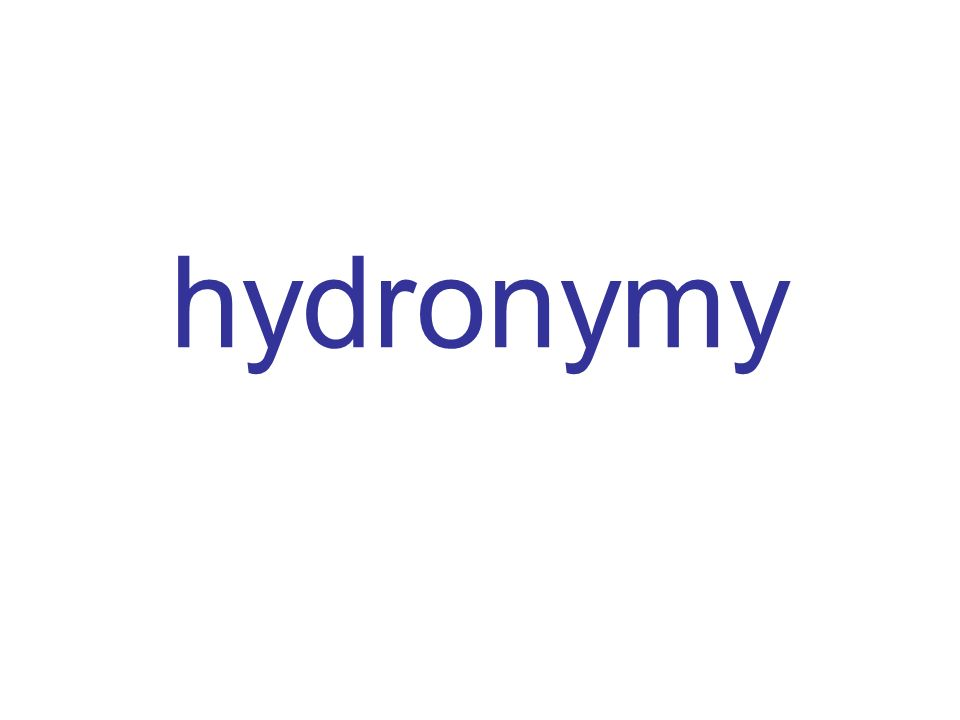 hydronymy