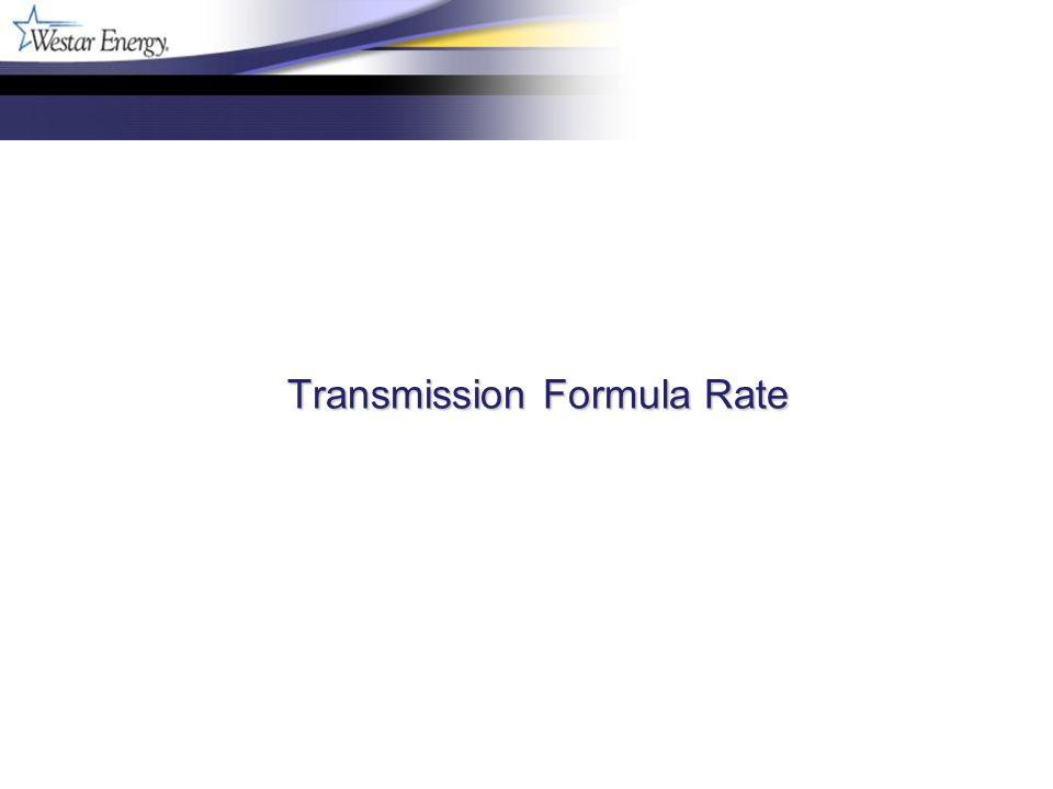 Transmission Formula Rate