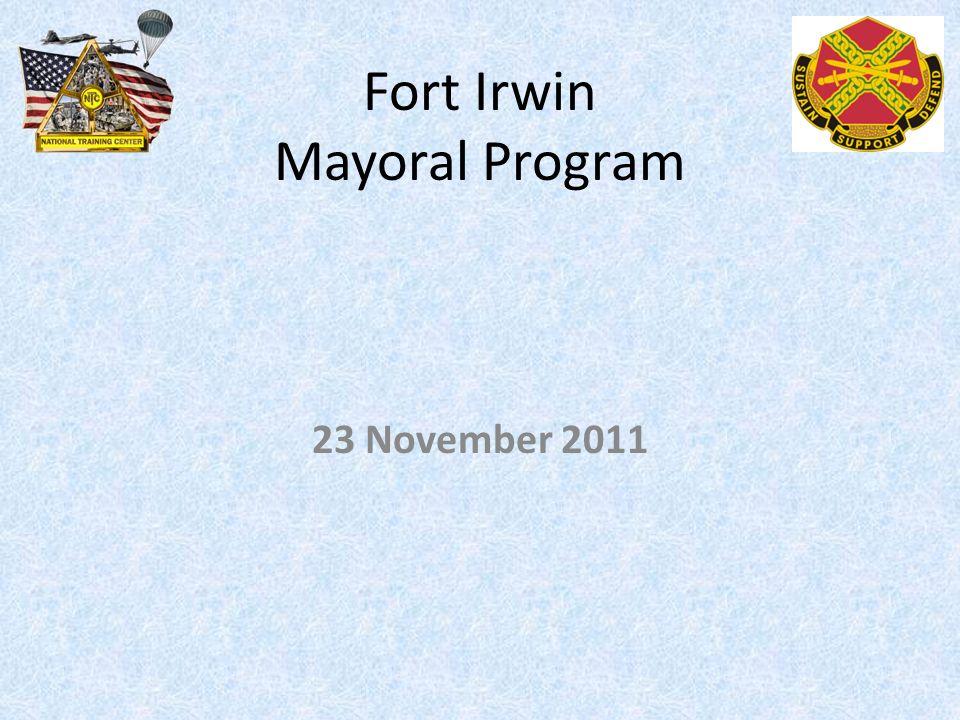Fort Irwin Mayoral Program 23 November 2011