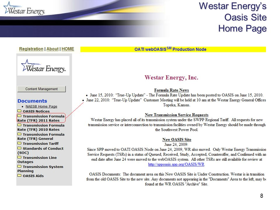 8 Westar Energys Oasis Site Home Page