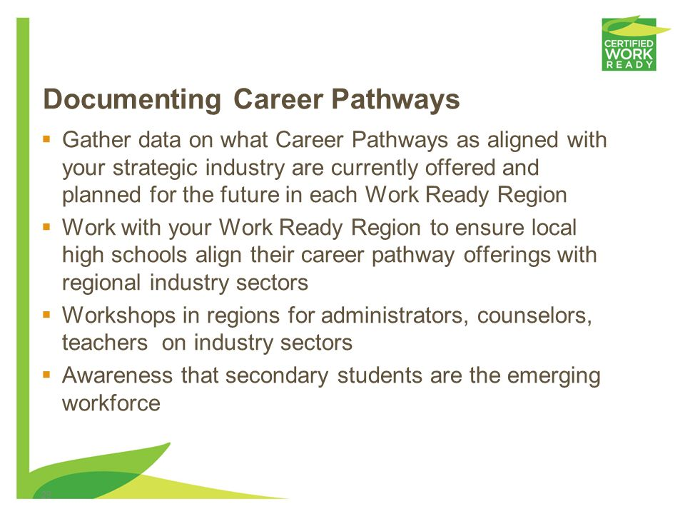 Documenting Career Pathways