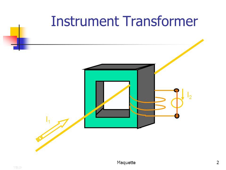 Maquette3 K : Transformation ratio Primary U1U1 Secondary U2U2 Voltage Transformer : Definition of an Instrument Transformer