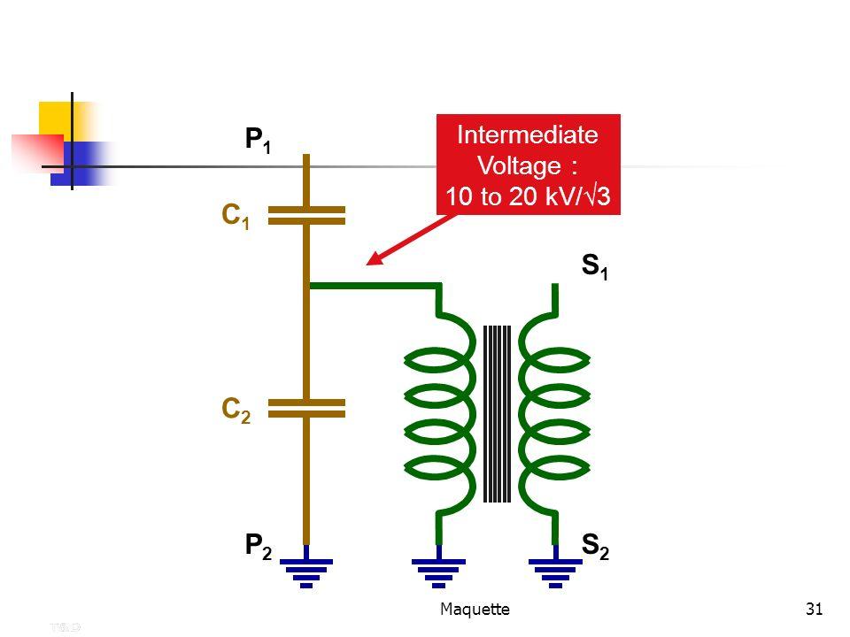 Maquette31 Intermediate Voltage : 10 to 20 kV/ 3 S1S1 S2S2 P1P1 P2P2 C1C1 C2C2