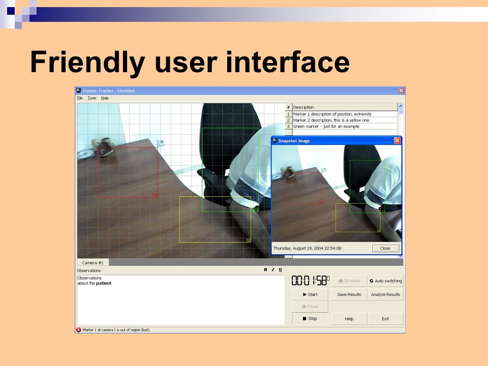 Friendly user interface