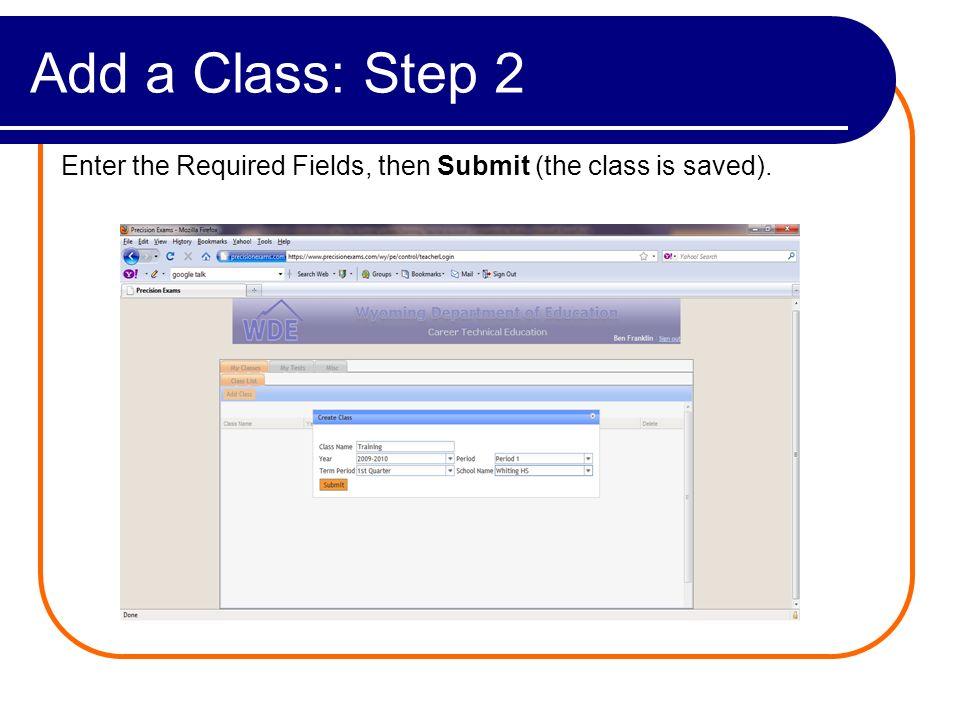 Class View Class Name Year Period Term School View Class Delete