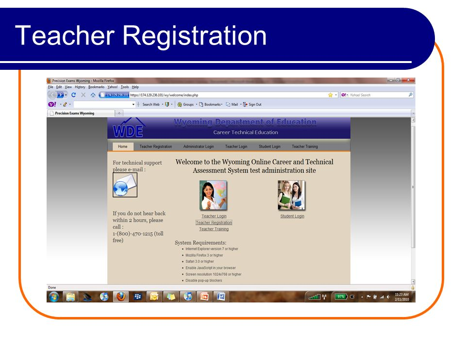 Teacher Registration