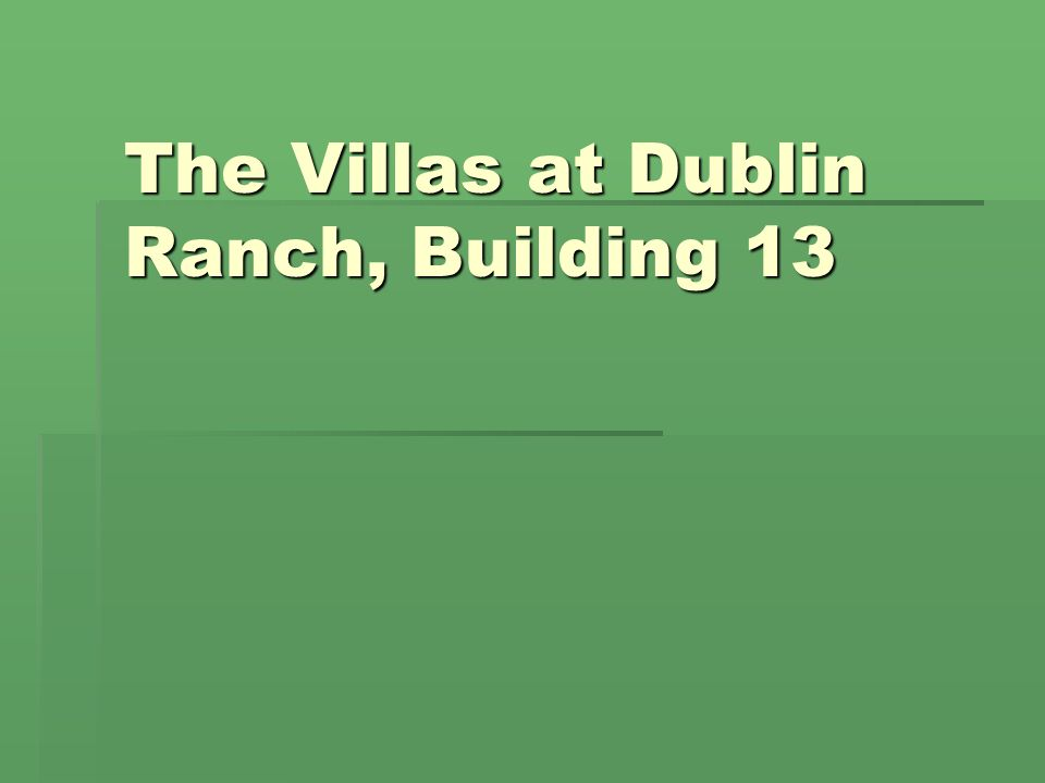 The Villas at Dublin Ranch, Building 13