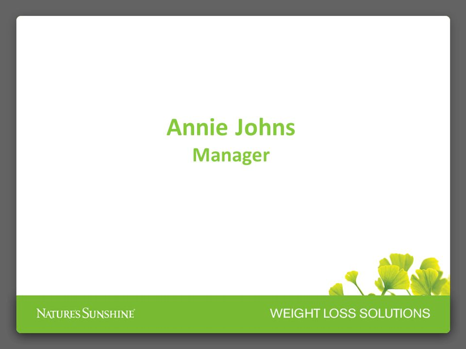 Annie Johns Manager