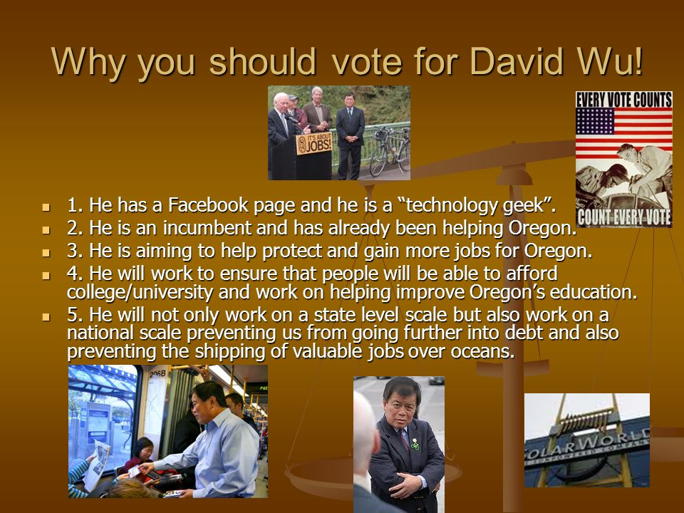 VOTE FOR DAVID WOO!!(WU)