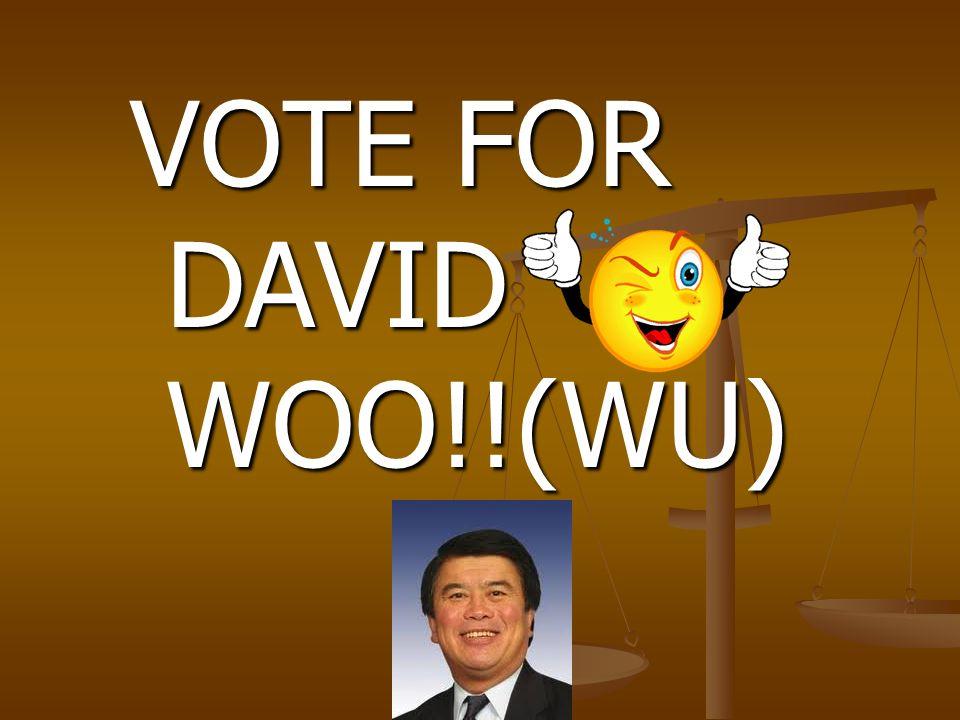 VOTE FOR DAVID WOO!!(WU)