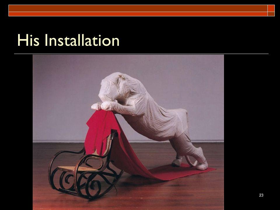 23 His Installation