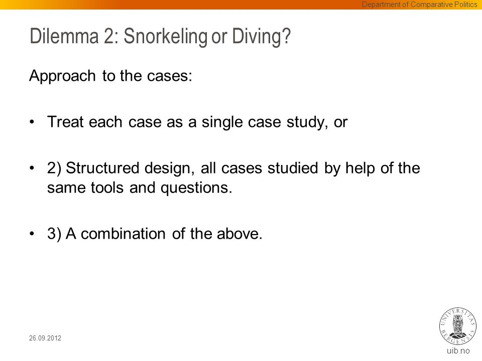 uib.no Dilemma 2: Snorkeling or Diving.