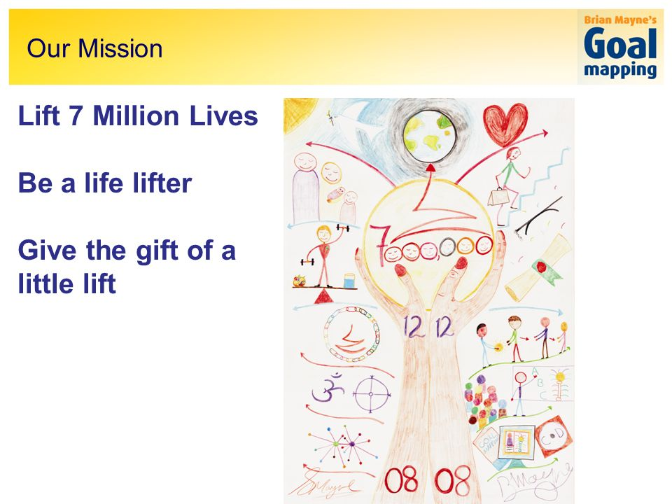 Lift 7 Million Lives Be a life lifter Give the gift of a little lift Our Mission