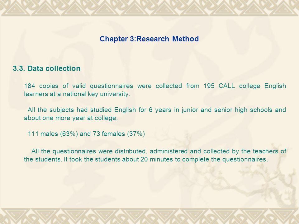 Chapter 3:Research Method 3.4.Data analysis (1).
