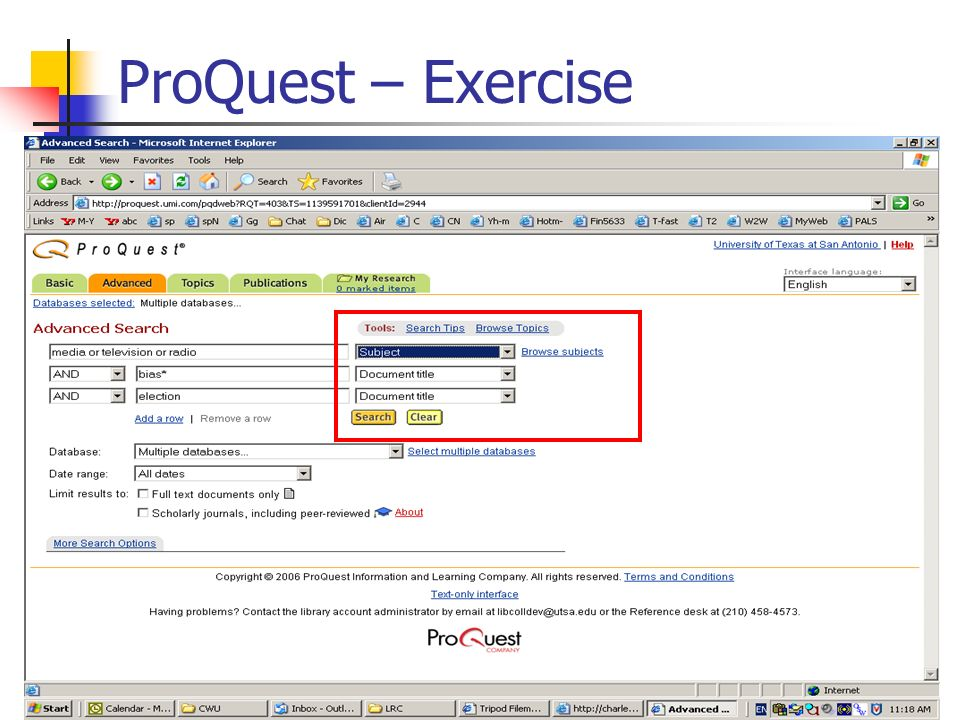 16 ProQuest – Exercise