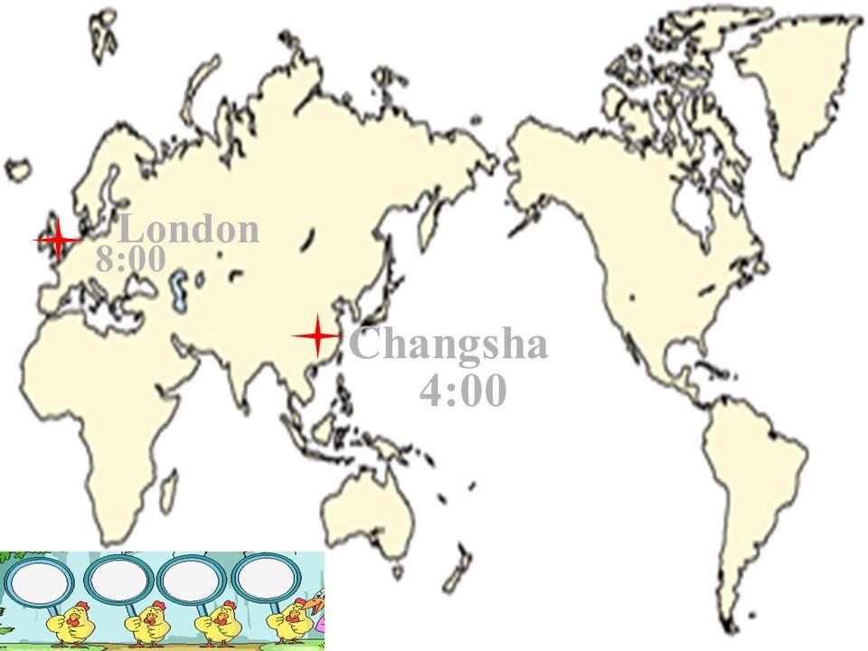 Paris 9:00 Changsha 4:00