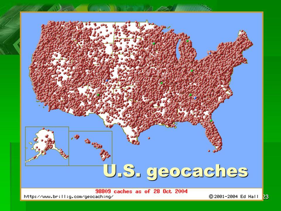 23 U.S. geocaches