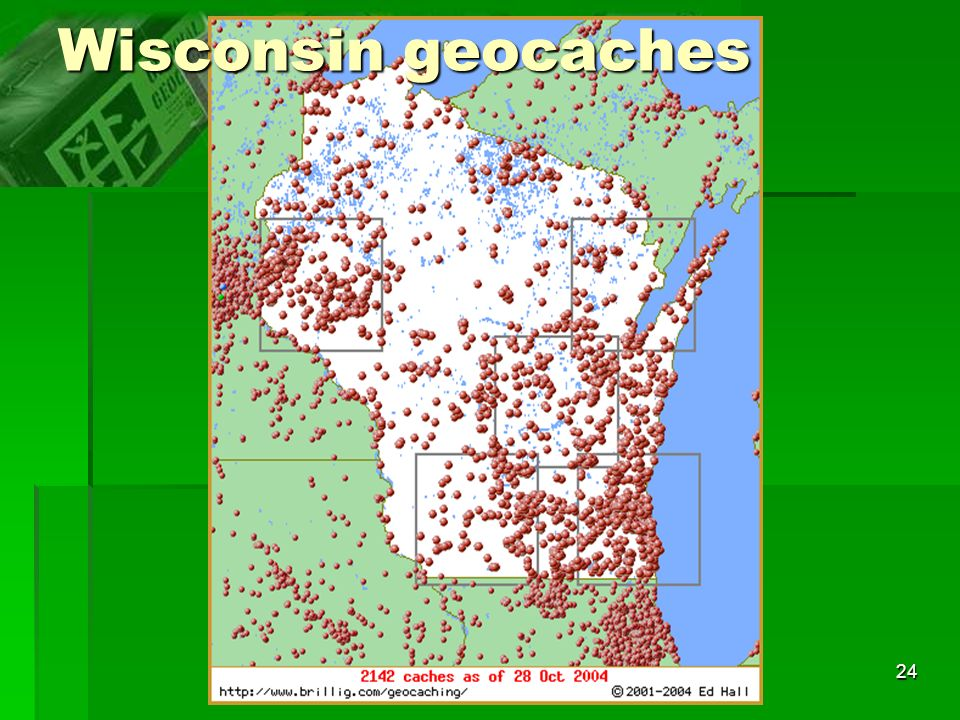 24 Wisconsin geocaches