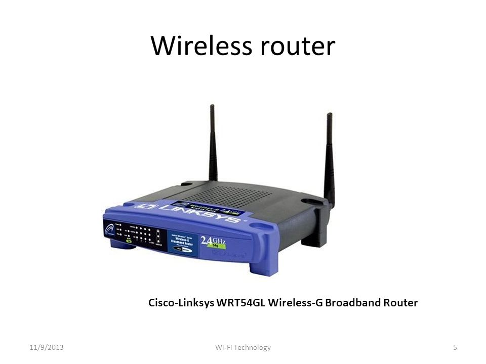 Repeater Wireless Network Diagram 11/9/201326Wi-Fi Technology