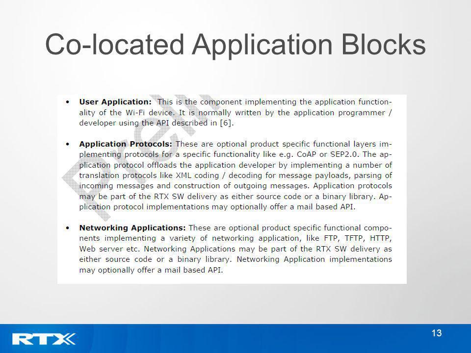 13 Co-located Application Blocks