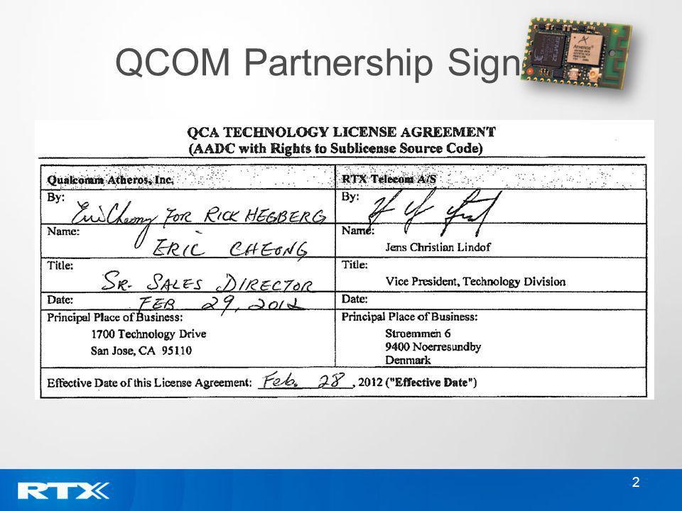 2 QCOM Partnership Signed