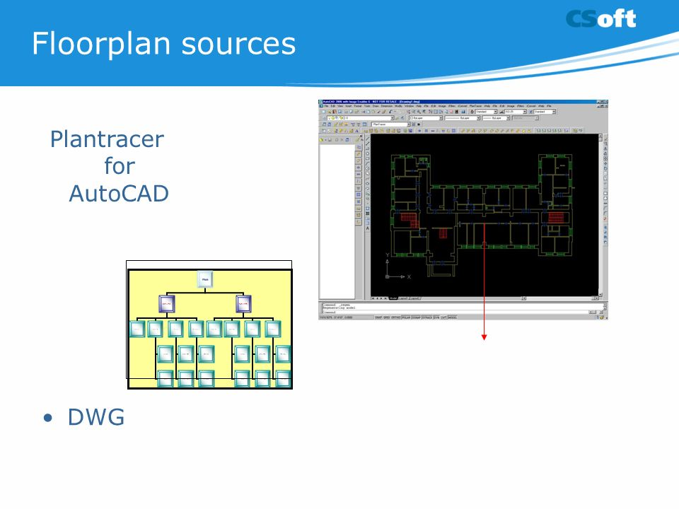 DWG Floorplan sources Plantracer for AutoCAD
