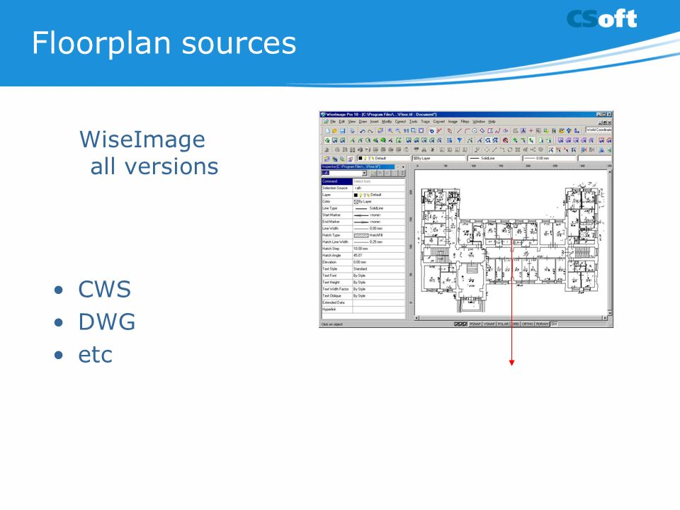 Floorplan sources CWS DWG etc WiseImage all versions